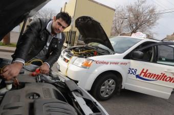 Battery jump start - Hamilton Cab