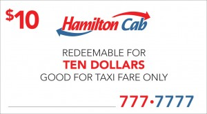 Hamilton Cab gift card
