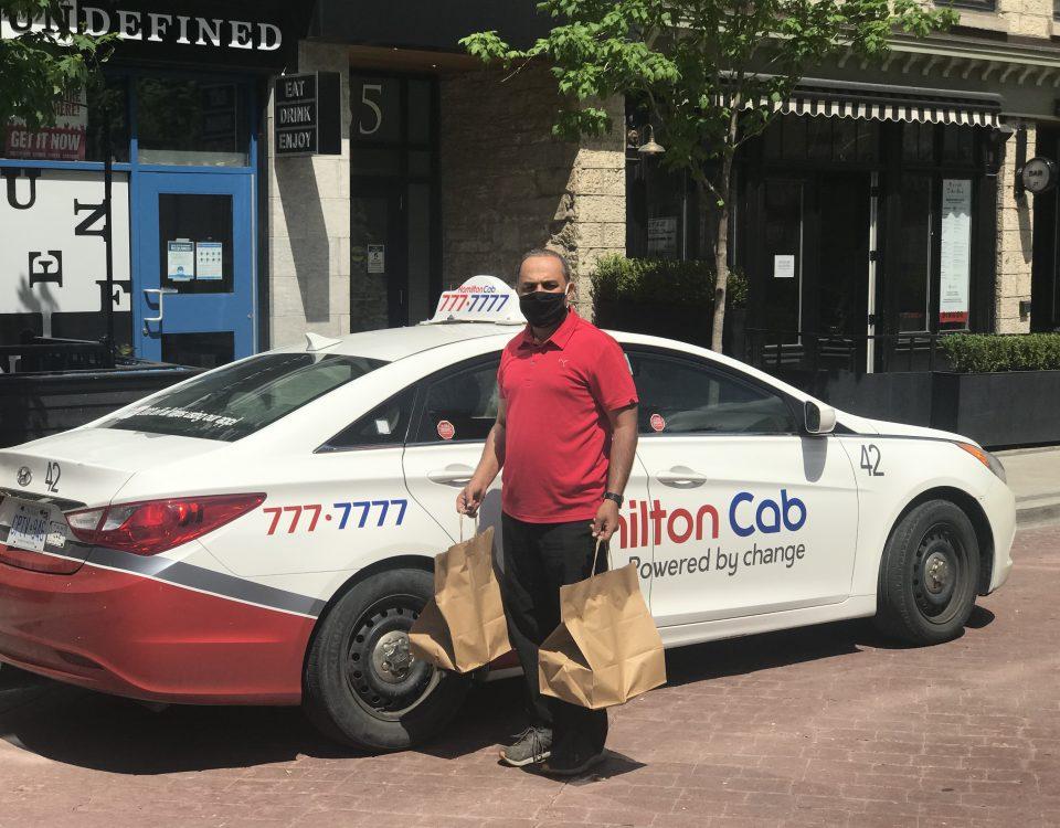 Hamilton Cab Driver Delivering Groceries